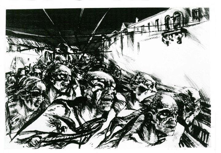 incisione di Cesco Magnolato 'La strada'